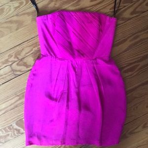 Hot pink strapless dress by Naven